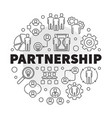 business partnership round in vector image vector image