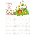 Calendar with animals so cute 2016 vector image