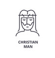 christian man line icon outline sign linear vector image