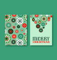 christmas card set retro geometric folk ornament vector image vector image