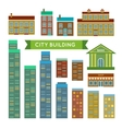 City buildings set vector image