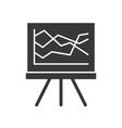 data presentation on board solid icon business vector image vector image