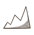 Diagram chart symbol vector image vector image