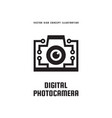 digital photo camera - concept logo template vector image