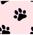 Dog paw zoo pattern for animal and textile vector image vector image