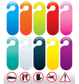 doors icons and signs vector image vector image