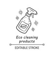 eco cleaning products linear icon