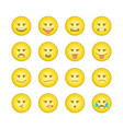 emoticon smile icons set 2 vector image vector image