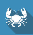 flat icon of a crab vector image