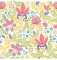 Flower girls seamless pattern background vector image