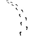 footsteps turn left vector image vector image