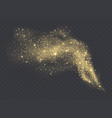 golden dust cloud with sparkles isolated vector image vector image