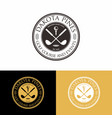 golf course event and club logo badge vector image vector image
