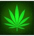 green hemp sign vector image vector image
