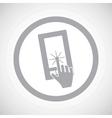 Grey touchscreen sign icon vector image vector image