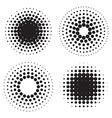 halftone circles dots vector image