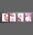 hand drawn collection of card made by acrylic vector image vector image
