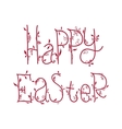Happy Easter greeting card with floral decorative vector image