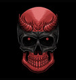 head demon skull vector image vector image