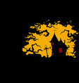 house in dark banner with a copy space vector image vector image