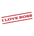 I Love Boss Watermark Stamp vector image vector image