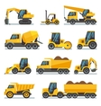 Industrial construction equipment and machinery vector image
