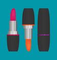 lipstick flat icon vector image