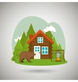 log cabin design vector image vector image