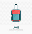 luggage thin line icon vector image