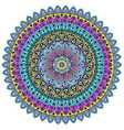 mandala with colored ornaments for design vector image