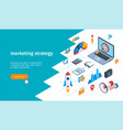 marketing strategy banner 01 vector image vector image