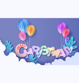 merry christmas cut from paper vector image vector image