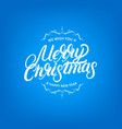 merry christmas elegant hand lettering design vector image vector image