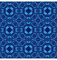 Mosaics tiled blue seamless pattern vector image