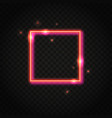 neon red square frame with space for text vector image