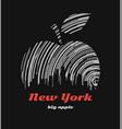 new york big apple t-shirt graphic design vector image vector image