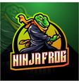 ninja frog esport mascot logo vector image