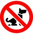 no fouling dog forbidden sign vector image vector image