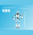 page not found or 404 error template with robot vector image vector image