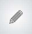 pencil outline symbol dark on white background vector image vector image