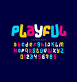 playful colorful font design vector image vector image
