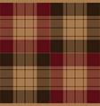 red brown tartan plaid seamless pattern vector image vector image