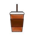scribble disposable coffee cup cartoon vector image