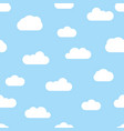 seamless background with sky and clouds vector image
