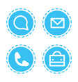 set different mobile app icons communication web vector image