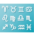 Shiny White Zodiac Icons on Blue Background vector image vector image