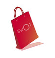 shopping bags with swot analysis strategy manageme vector image vector image