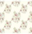 sketch entangle seamless floral pattern vector image vector image