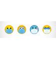 smiling medical maskes vector image vector image
