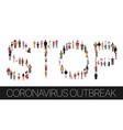 stop coronavirus outbreak covid-19 social media vector image vector image